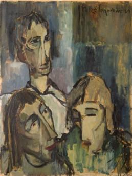 Pintura de Peiró Coronado. Oleo sobre tabla de 1959. Medidas 66x50.