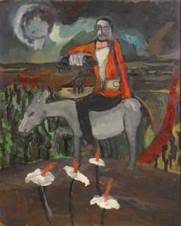 Pintura de Fernando Peiró Coronado 'Las sabias ignorancias del hombre' pintada en 1960, técnica óleo sobre tabla, medidas 87x70.