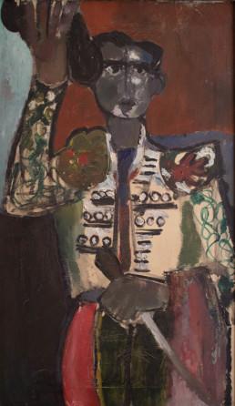 Pintura de Fernando Peiró Coronado. 'El brindis' realizado en 1961 es un óleo sobre lienzo. Medidas, 76x47.
