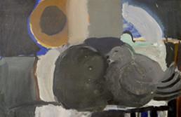 Pintura de Fernando Peiró Coronado 'Arrumaco' pintada en 1964 con pigmentos al látex sobre cartulina. Medidas 33x50.