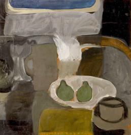 'Bodegón con peras verdes' obra de Fernando Peiró Coronado realizada en 1965. Medidas 53x52.
