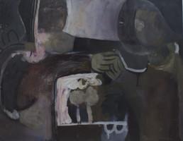 Pintura de Fernando Peiró Coronado realizada en 1968 con pigmentos látex sobre cartulina encolada a tabla. Medidas, 50x64.