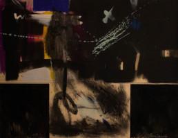 'Paisaje interior', pintura de Fernando Peiró Coronado realizada con óleo y tintas sobre cartulina. Medidas, 49x65.