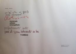 'Deshumanizarse', Poema de José Antonio Labordeta que acompaña a la pintura del mismo título realizada por Peiró Coronado. Medidas, 50x65.