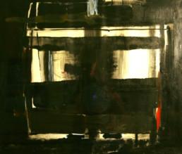 'Un rostro', pintura de Fernando Peiró Coronado que acompaña al poema del mismo título escrito por José Antonio Labordeta. Medidas 59x68.