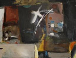 Pintura sin título de Fernando Peiró Coronado realizada con óleo sobre tabla 50x65