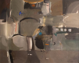 Pintura 'A dónde vas' de Fernando Peiró Coronado , óleo sobre lienzo. Medidas 73x92. Paisaje onírico