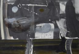 Pintura 'Desde la ventana' de Fernando Peiró Coronado , boceto realizado tinta china y lápiz sobre cartulina. Medidas 15x17.