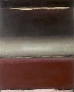 Pintura 'Paisaje de otros espacios' de Fernando Peiró Coronado realizada con óleo sobre lienzo. Pintura espacialista, expresionismo abstracto americano.