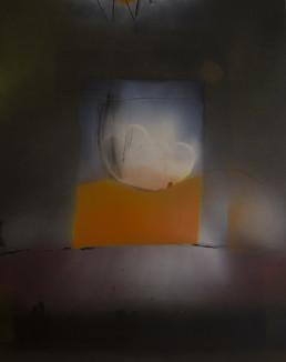 Pintura 'Momento deseado' de Fernando Peiró Coronado realizada con spray y óleo sobre cartulina preparada. Medidas 74x50.