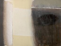 Pintura 'Duda permanente' de Fernando Peiró Coronado. Medidas 26x34, óleo ,pastel y spray sobre cartulina preparada con polvo de mármol y látex.