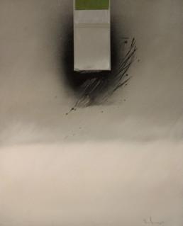 Pintura 'Espacio oriental' de Fernando Peiró Coronado. Obra realizada con óleo sobre lienzo en la que la presencia del espacio es protagonista, espacialismo al estilo Rothko