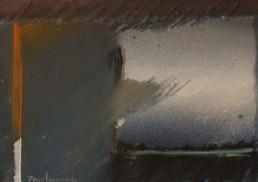 Pintura 'Atrapado en el instante' de Fernando Peiró Coronado. Obra de pequeño formato realizada con óleo, ceras y spray sobre cartulina preparada con arena y látex.
