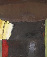 Pintura 'Camino de contrastes' de Fernando Peiró Coronado. Obra realizada con óleo y spray sobre tabla preparada con polvo mármol y látex.