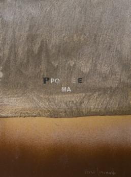 Pintura de Fernando Peiró Coronado de pequeño formato. 'Poéticamente'. 24x18. Obra realizada con spray sobre cartulina previamente preparada con arena y látex.