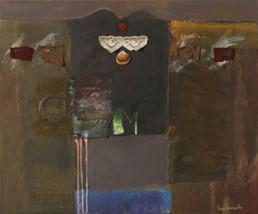 Pintura de Peiró Coronado realizada sobre tabla con una base de arena con látex. Obra realizada en dos periodos diferentes. Medidas 60x73.