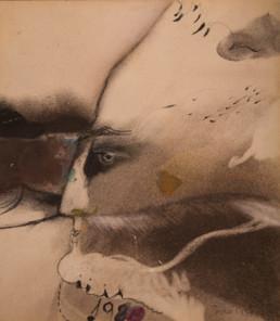 Obra de Fernando Peiró Coronado. Colección del artista. Pintura realizada con ceras, pastel y tinta china sobre cartulina.
