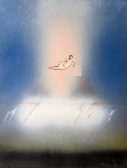 'Añoranza de la Venus recreándose en la música', obra de Fernando Peiró Coronado artista y pintor valenciano. Colección de la Fundació Caixa Vinaròs.