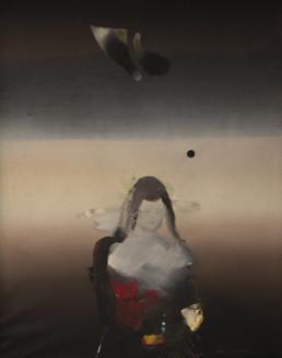 'Juego de la oteadora', obra de Fernando Peiró Coronado. Colección del artista. Medidas, 81x65. Pintura realizada con óleo sobre lienzo.