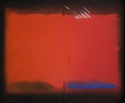 Pintura de Fernando Peiró Coronado. Óleo, spray y pastel sobre tabla entelada. Expresionismo abstracto. Pintura espacialista.