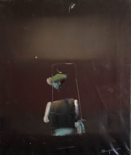 'El señor de los espacios cósmicos' de Fernando Peiró Coronado. Óleo sobre lienzo. Medidas, 55x46