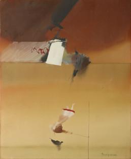 'Gema dando vueltas', pintura de Fernando Peiró Coronado. Óleo sobre lienzo, medidas 61x50.. Expresionismo abstracto, Mark Rothko.