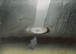 Obra mística realizada sobre tabla trabajada con arna y látex, que evoca a San Juan de la Cruz, uno de los referentes literarios del artista de Benicarló.
