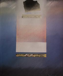 Pintura de Fernando Peiró Coronado ' pintada en 1985, en el 18 aniversario de su hija. Espacio musical lleno de amor y ternura. Medidas 55x45.