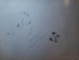 Dibujo de Fernando Peiró Coronado realizado en 1986 lápiz sobre cartulina. Medidas 36x46.