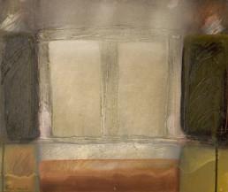 Pintura '¡Y qué más!' de Fernando Peiró Coronado , óleo sobre lienzo preparado con arena y látex que le aporta por sí solo carácter a la obra.