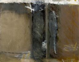 Pintura 'Separación dolorosa' de Fernando Peiró Coronado realizada con oleo y ceras sobre cartulina preparada con polvo de mármol y látex.