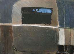 Pintura de Fernando Peiró Coronado realizada sobre tabla con una base de polvo de mármol, realizada en dos fases diferentes. Medidas 34x46.