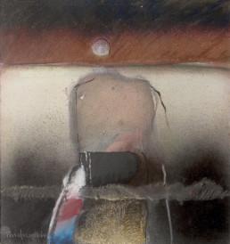 'Camino hacia el infinito' obra de Fernando Peiró Coronado. Medidas, 25x25. Pintura realizada con óleo, spray y ceras sobre tabla preparada matéricamente.
