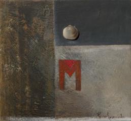 Pintura 'Mujer misteriosa' de Fernando Peiró Coronado realizada con óleo sobre una tabla preparada con base de polvo de mármol que favorece a las texturas y las veladuras de color.