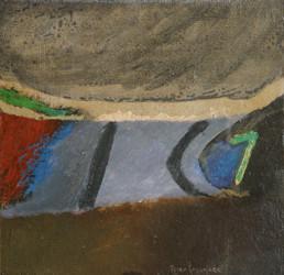 'Sutilezas del viaje' obra de Fernando Peiró Coronado (1932 Alaquàs- 2011 Benicarló), artista y pintor valenciano. Técnica mixta: óleo y cera sobre tabla preparada con polvo de mármol.