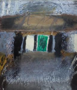 'Canción de la muerte pequeña' obra de Fernando Peiró Coronado. El título hace alusión a un poema de Federico García Lorca. Óleo y ceras sobre tablero preparado con polvo de mármol.