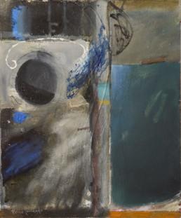 'Atardecer en el Mediterráneo', pintura de Fernando Peiró Coronado. Medidas, 46x38. Pintura realizada con óleo y ceras sobre lienzo preparado matéricamente.