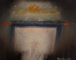 'Palabras con Patterson', obra de Fernando Peiró Coronado. Medidas, 27x35. Técnica mixta: óleo, ceras y spray sobre tabla preparada matéricamente.