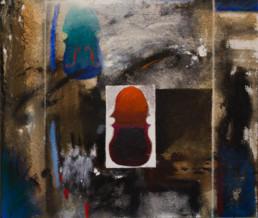 'Con Pau Casals', obra de Fernando Peiró Coronado. Medidas, 38x46. Técnica mixta: óleo, pastel y ceras sobre tabla preparada matéricamente