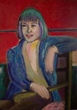 'Retrato de mujer', obra de Fernando Peiró Coronado. Medidas, 81x60. Técnica mixta: óleo sobre lienzo trabajado matéricamente.
