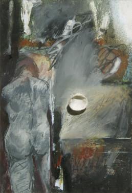 'En primavera', obra de Fernando Peiró Coronado. Medidas, 21x15. Óleo, lápiz, ceras, papel y concha sobre cartulina preparada con polvo de mármol y látex