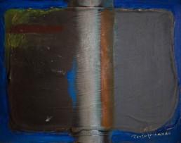 'Composición', obra de Fernando Peiró Coronado. Medidas, 26x33. Técnica mixta: óleo sobre tabla preparada con polvo de màrmol y látex.