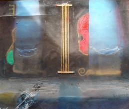 'A solas con los violines' obra de Fernando Peiró Coronado. 29x37. Colección de la Fundació Caixa Vinaròs. Peiró Coronado y la música.