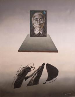 'Fluyendo en el espacio II' obra de Fernando Peiró Coronado. Medidas, 92x73. Pintura de gran formato realizada con óleo sobre lienzo.