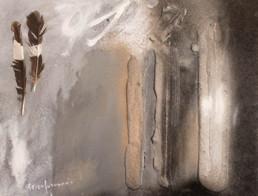 'Viaje a otros espacios', obra de Fernando Peiró Coronado. Exposición en Galería Taüll en Barcelona en 2009. Medidas 26x35.