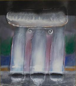 'Momento de serenidad', Fernando Peiró Coronado. Medidas, 42x37. Galerías en Castellón, Galería Art Dam. Galerías en Barcelona, Galería Taüll.