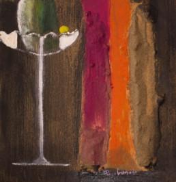 'Capricho de formas' de Peiró Coronado. Obra neofigrativa. Abstracción. Materia y texturas. Medidas 30x30