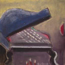 'Resonancia imperial', Pintura realizada pensando en una tarde de las muchas tardes compartidas con Carles en el estudio del pintor en Benicarló.