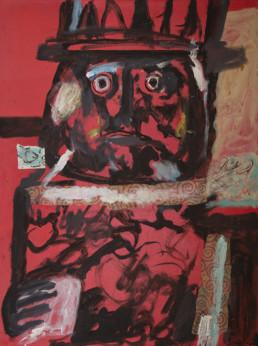 'Mi rey para ti'. Óleo y acrílico sobre lienzo y collage, realizado en 2010. Pintura realizada a petición de su hija