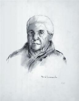 'Retrato de la abuela Antonia' dibujo de Fernando Peiró Coronado realizado en 1975. La familia fue ampliamente retratada por el artista.